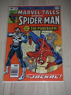 Marvel Tales #106 (Aug 1979, Marvel) 1st Punisher reprint Spiderman VF/Fine