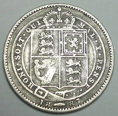 1887 Great Britain 1 shilling silver coin, UK