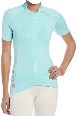New 2Xu Thermo Jersey Top Women Large L Training Fitness Cycling Jacket Blue