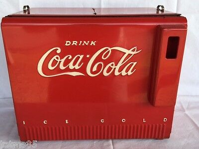 1939 Coca Cola Salesman Sample Cooler with Front Closed Panel & Booklets
