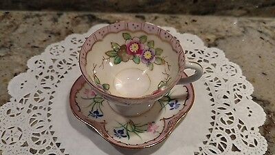 1 Small Vintage Mis-Matched China Tea Cup & Saucer Made In  Occupied Japan