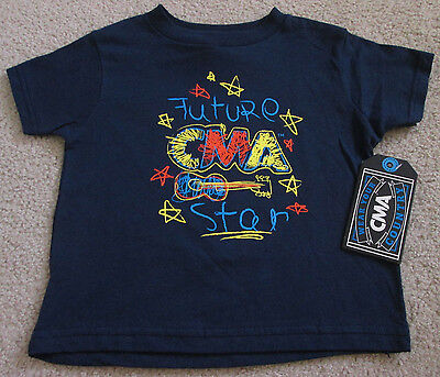 """NWT Country Music Association """"Future CMA Star"""" Toddler T-Shirt - Size 4T - Blue"""