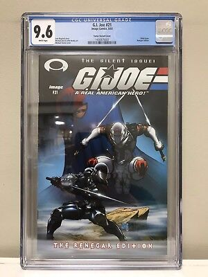 G.i. Joe #21 Cgc 9.6 Nm! Silent Issue! Michael Turner Variant Cover!