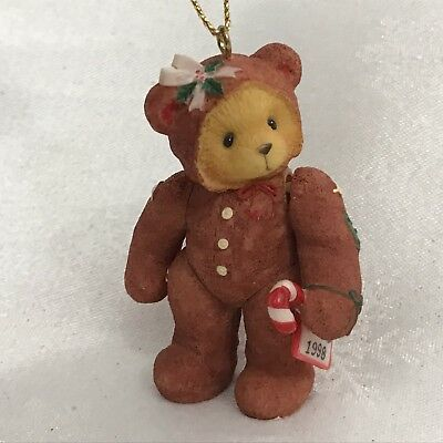 Cherished Teddies 1998 Gingerbread Bear Jointed Hanging Ornament #352748 Doll