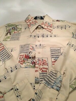 Vintage Levis Western Shirt The Star Spangled Banner  1970s No Big E