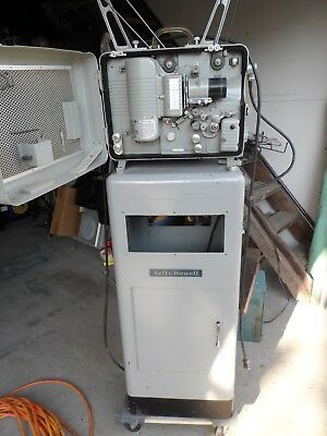 "Bell & Howell 16mm projector with pedestal ""Design 614"""