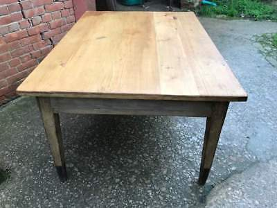 Victorian Large Pine Farmhouse Table with Original Paintwork