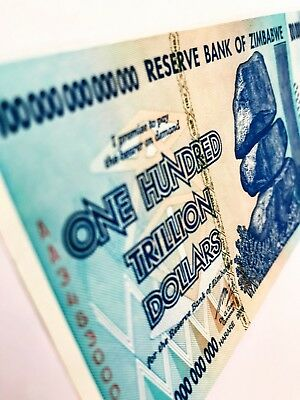 Zimbabwe 100 Trillion Dollars 2008 Banknote (uncirculated)