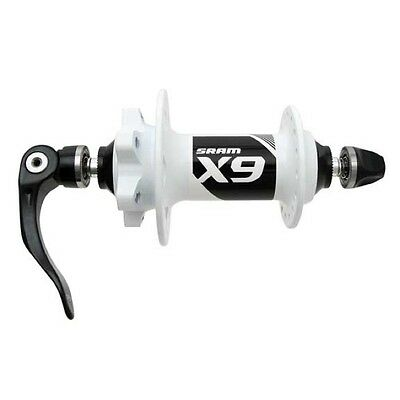 GENUINE SRAM X9 V2 Front MTB Disc Hub 9x100mm Quick Release Skewer, White