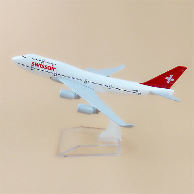 16cm Swiss Air Airlines Boeing 747 B747 Aircraft Model Airplane Model Plane