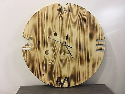 Pallet Wood Wall Clock 'Old Style' Art Industrial Vintage