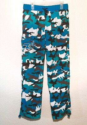 NEW Zumba Atomic Boy's ZA Cargo Pant Size 12 Youth Blue Camo Fitness Gym Workout