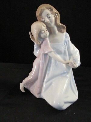 Porcelain Mother and Child Bedtime Figurine By Paul Sebastian