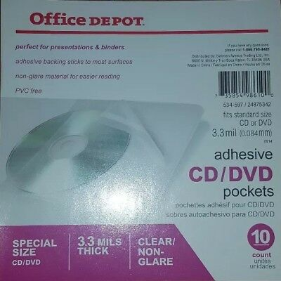 100 Premium Clear Plastic Sleeves With Adhesive Strips for CD DVDS