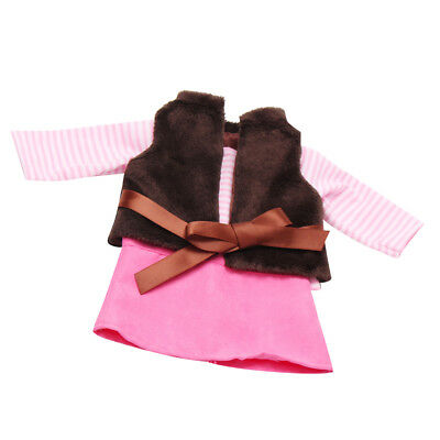 3pcs Clothes for 18inch American Girl Our Generation Dolls Shirt Coat Skirt