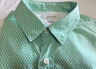 COUNTRY ROAD Green/White Print, Long Sl Shirt -XL- New Con