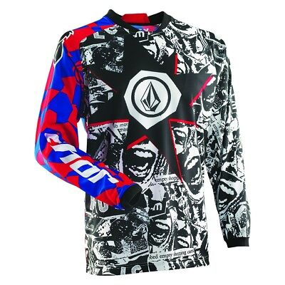 Thor Motocross Jersey, Phase Volcom Paradox, Youth/Adult, Dirt bike, Quad, BMX,