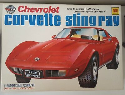 Vintage Otaki 1/12 1978 Chevtolet Corvette Stingray kit