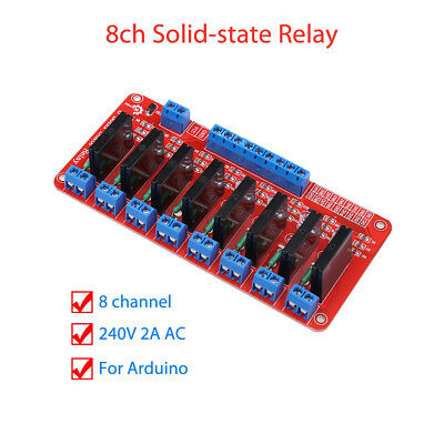 8ch Solid-state Relay Module High Level Trigger For Arduino OMRON Keyes 160mAh