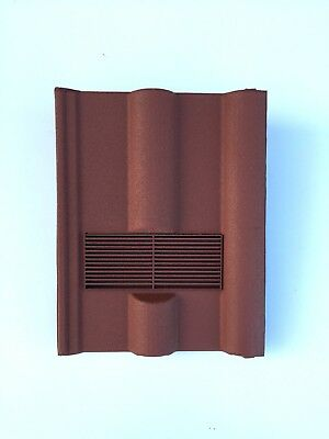 Roof Tile Vent To Fit Marley, Redland 50 Double Roman | Red Granular | 8 Colours