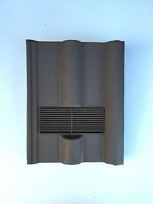 Roof Tile Vent To Fit Marley, Redland 50 Double Roman | Brown Sanded | 8 Colours