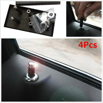 4Pcs Universal Carbon Fiber Auto Car Interior Dash Door Lock Handles Knob Pins