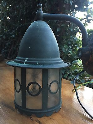 Art Deco solid copper American wall sconce - rewired, otherwise unrestored