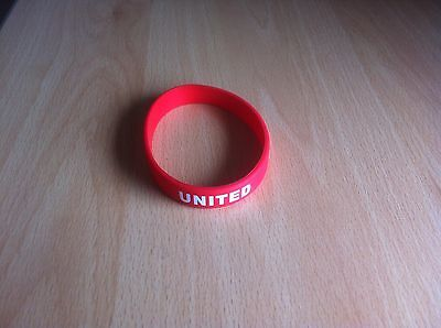 Brand new Red Manchester United Silicone wristband.
