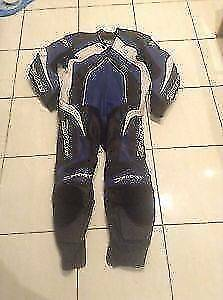 Joe Rocket Motorcycle leather riding race suit - one piece