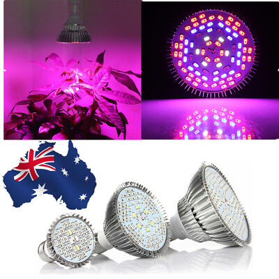 30/50/80W Full Spectrum E27 LED Grow Light Flower Indoor Hydroponic Plant Lamp