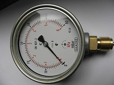 2 x   Manometer, KP100, 0-60bar, G1/2B  unten