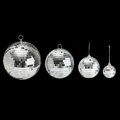 Mirror Glass Light Disco Ball Bands Club Party Stage Lighting Mirror Ball 1PC N5