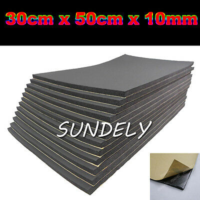 12 Sheets Car Sound Proofing Deadening Van Boat Insulation Closed Cell Foam 10mm