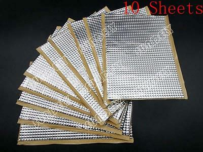 10Sheets 2mm Sound Vibration Deadening Proofing Coat Mat Car Bulk Kit 375 x270mm