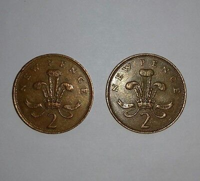 RARE 2× 2p COIN - NEW PENCE. 1971 & 1981.