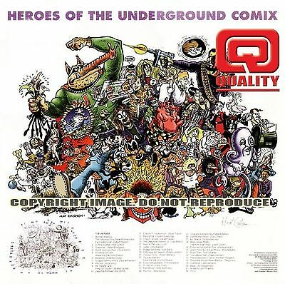 "HEROES OF UNDERGROUND COMIX 16x16"" limited edition print signed by Hunt Emerson"