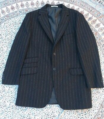 CREW CLOTHING - Brown - Striped - LambsWool - Smart Casual - Jacket - Size 44
