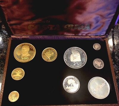Costa Rica 1970 GOLD & Silver Commemorative Set No 1000 Colones W/ Box And COA