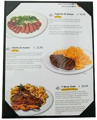 """10 Pcs of Menu Covers 8.5"""" X 11"""" Inches,Single View,Sold By Case,With Clear PVC"""