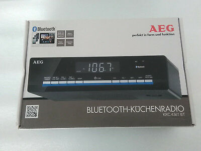 AEG KRC 4361 Bluetooth-PLL-UKW-Radio, LCD-Display, 3-Stufen-Dimmer, OVP