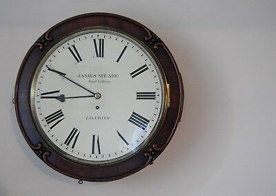 EARLY VICTORIAN DRUMHEAD DIAL WALL CLOCK BY JAMES McCABE ROYAL EXCHANGE LONDON