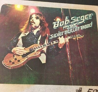 Vintage Iron On T-Shirt Transfer Bob Seger And The Silver Bullet Band