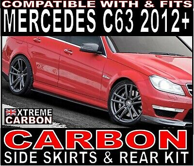 Mercedes C Class C63 W204 2012+ Carbon Side Skirts & Rear Extensions Kit