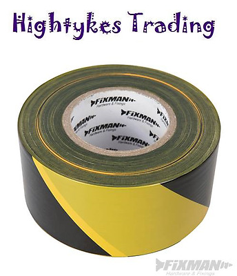 Safety Hazard Warning Barrier Tape Non Adhesive 70mm x 500m Yellow Black