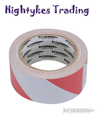 Safety Hazard Warning Barrier Tape Non Adhesive 70mm x 500m red white