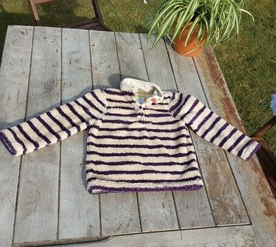 Girls Mini Boden Fleece Top 7-8 yrs