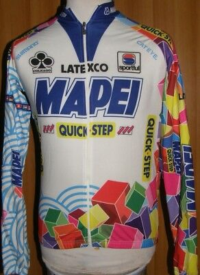 Maglia Shirt Maillot Jacket Ciclismo Cycling Mapei Colnago Jersey Vintage