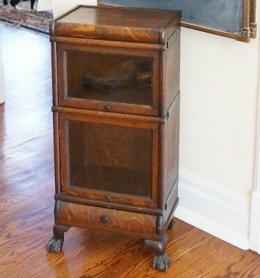 Petite barrister bookcase. Unique! Salesman sample? Clawfoot. VERY rare MACEY