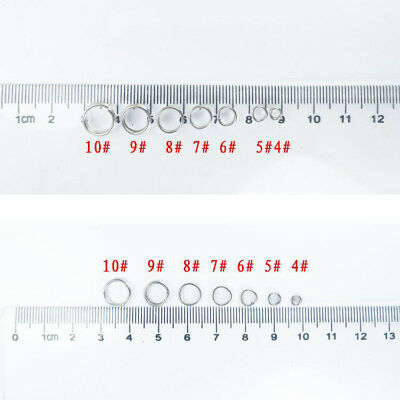 100Pcs Stainless Steel Round Split Rings Small Double Ring Jewelry Making 4-10mm