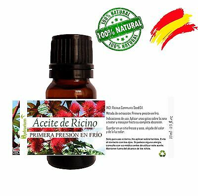 Aceite de Ricino virgen, 10 ml. Virgin Castor Oil 1/3 fl.oz